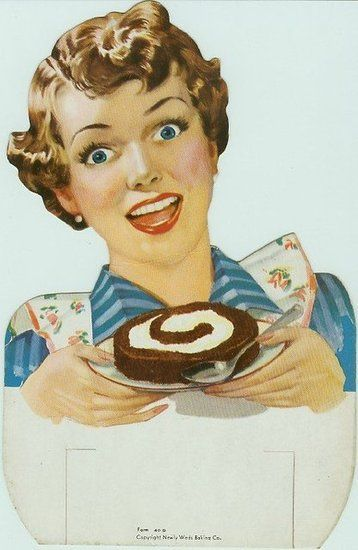 Look into my eyes! And my swirly cake!