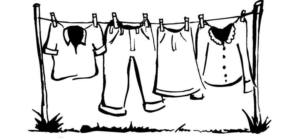 Clothesline Line Drawing The Clothesline Cartoon Pics