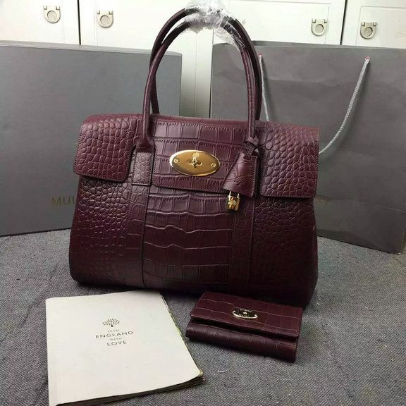 559a45796d 2016 S/S Mulberry Bayswater Tote Oxblood Deep Embossed Croc Print  [3409-Oxblood] - £193.00 : Mulberry Outlet UK Team, Mulberry Outlet UK with  60% off.