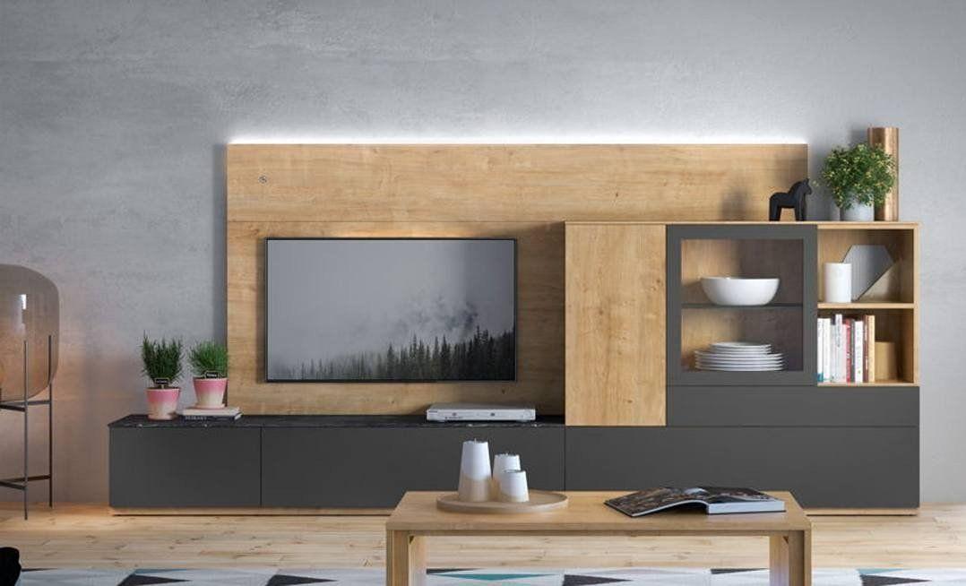 Mueble De Salon Moderno Y Sencillo Pero Con Mucha Capacidad