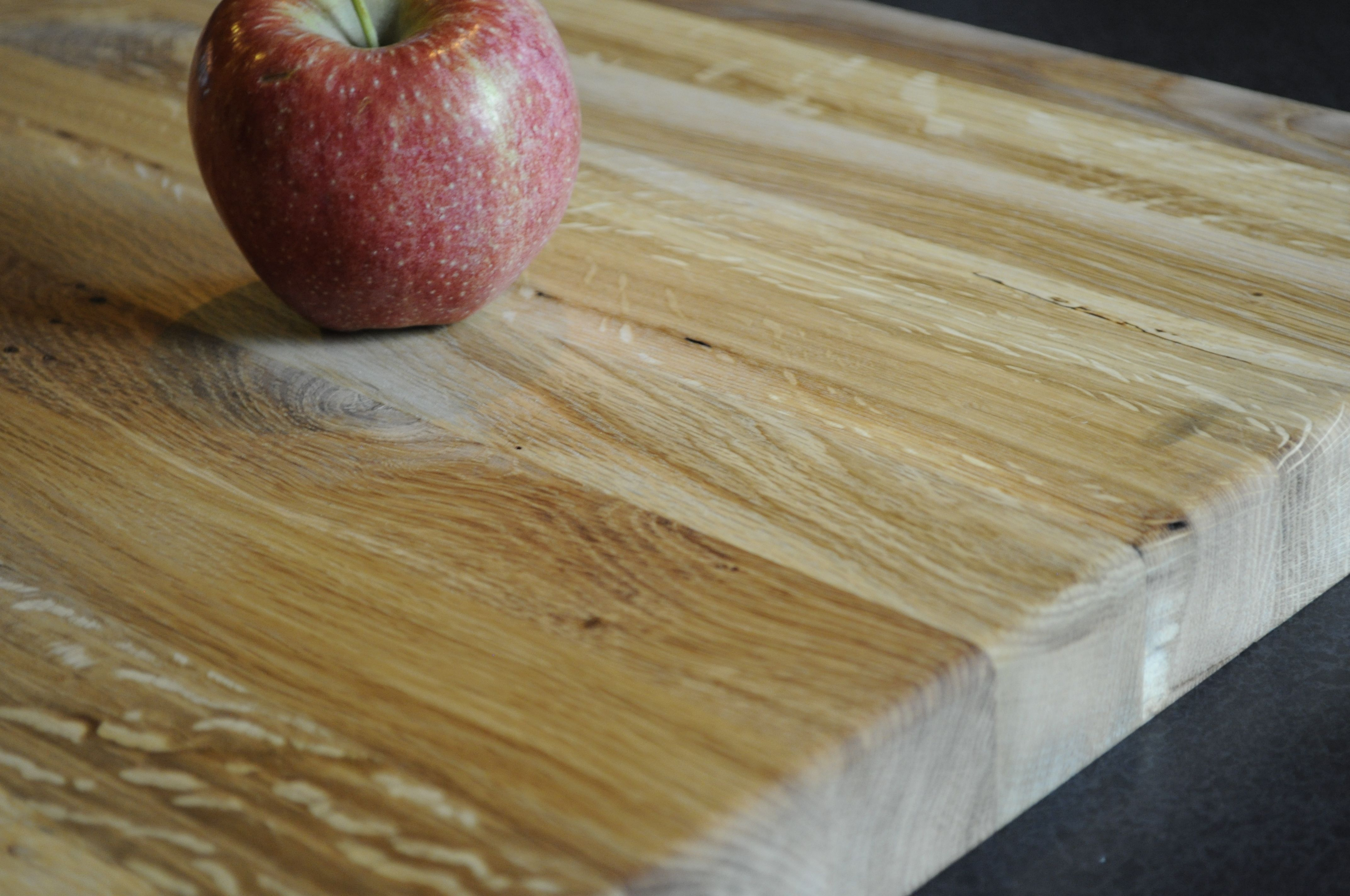 Wood makes an amazing counter top.  It is naturally resistant to bacteria, plus if it gets dented you can sand out the mark.