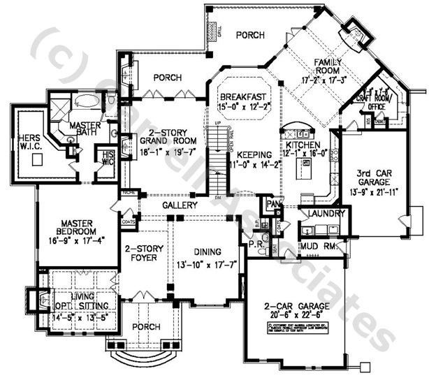 07060 Laurelwood Manor, 1st Floor Plan, European Manor