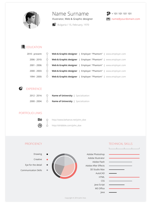 Illustrator Resume Templates Free Cv Pack On Behance  Dự Án Cần Thử  Pinterest  Behance