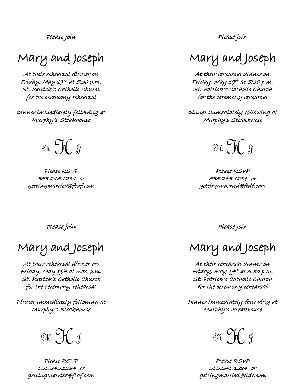 wedding rehearsal dinner menu template google search reception