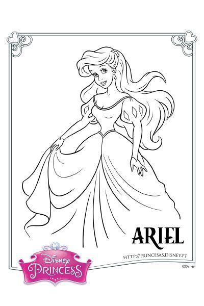 Colorir A Ariel 2 Paginas Para Colorir Da Disney Cores De Sereia