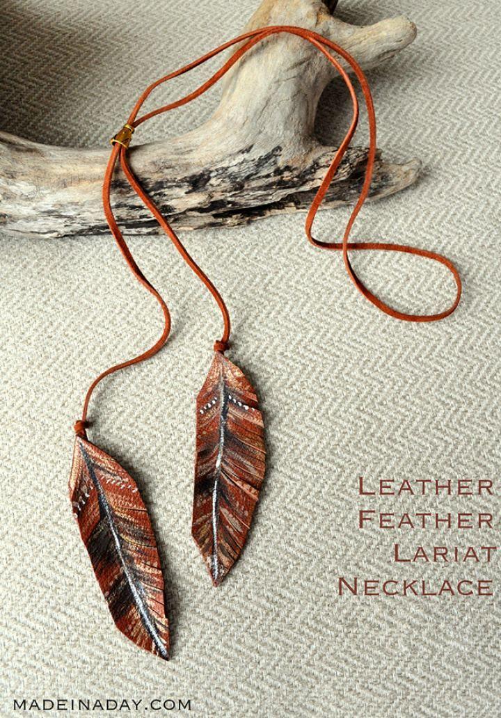 Photo of How To DIY Leder Feder Lariat Halskette: 20 beeindruckende DIY Halskette Ideen zu …