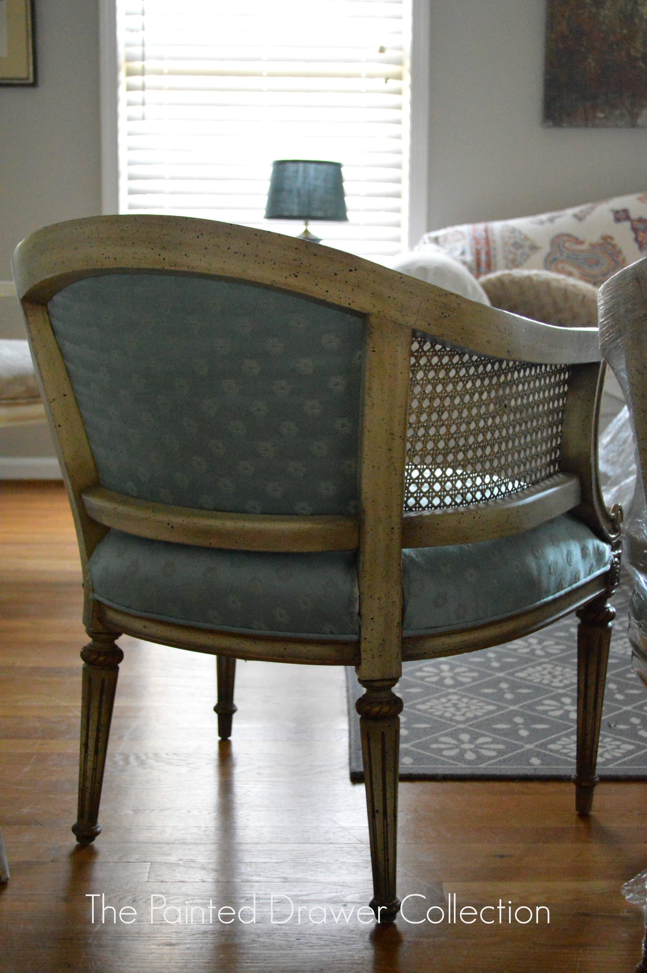 French Barrel Cane Chair