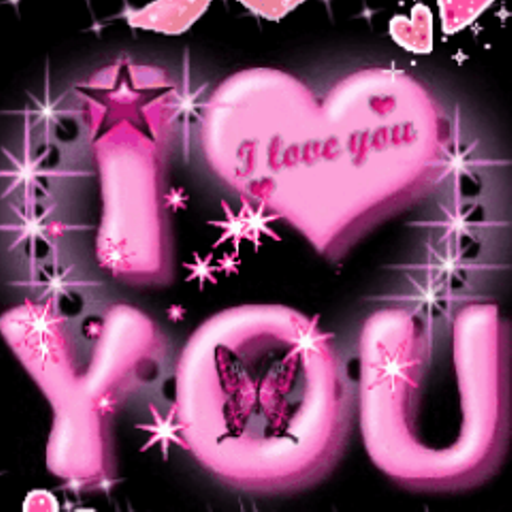 Butterfly I Love You 2 Live Wallpaper I Amazon Mobile Apps Love Wallpapers Romantic Heart Wallpaper Love You Gif
