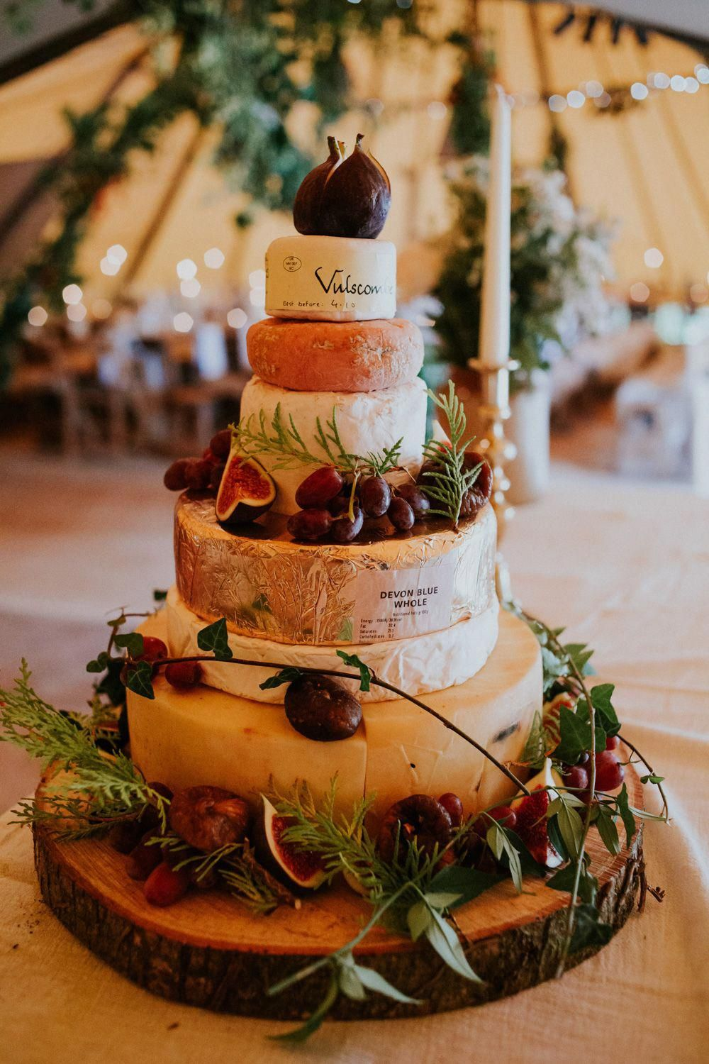 Cheese Tower Stack Cake Devon Garden Wedding Tipi Freckle