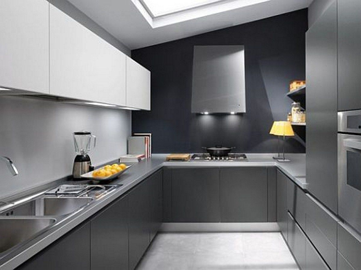 Modern Kitchen Design With Elegant Gray