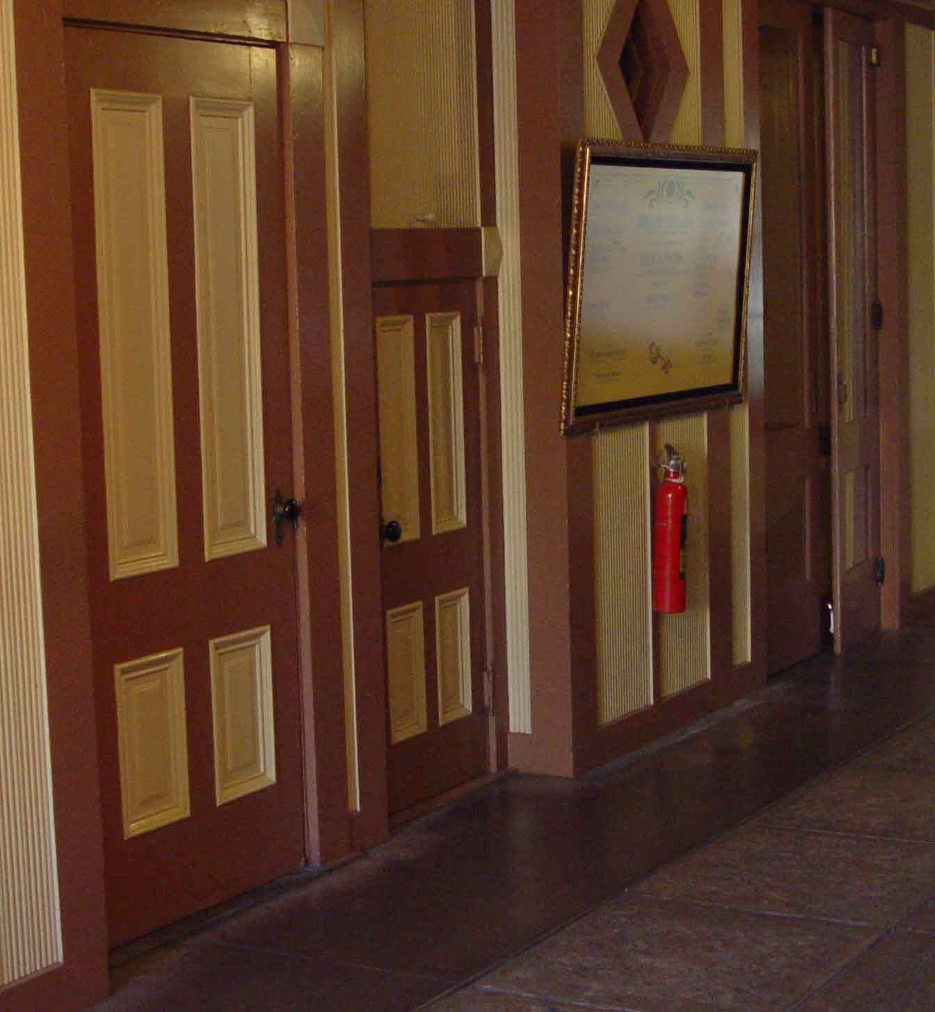Inside winchester mystery house big door little door