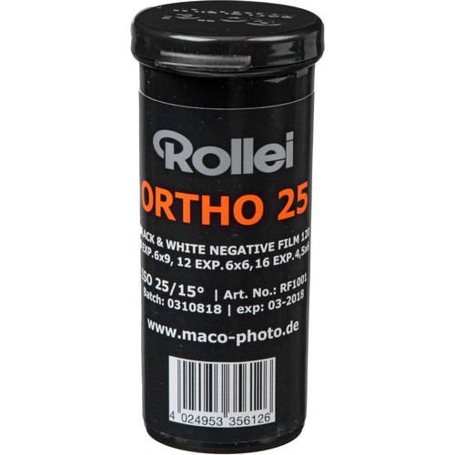 Rollei Ortho 25 Black And White Negative Film 120 Roll Film Large Format Photography Ortho Film