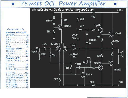 mono 150w ocl power amplifier electronics electronics projects