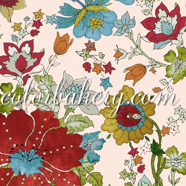 Emma's Garden pattern by Mindy Sommers #patterns #artlicensing