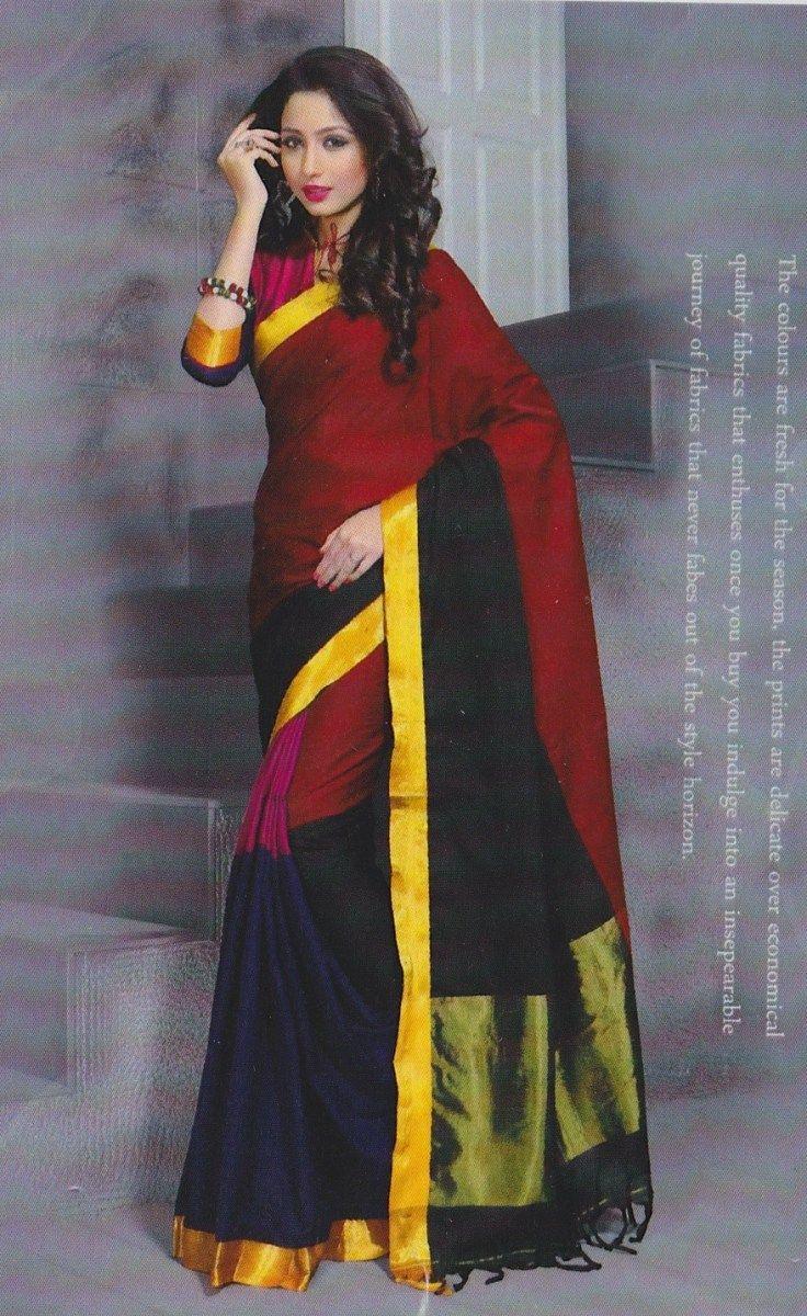Saree blouse design for cotton saree designer cotton saree with blouse pc  sarees  pinterest  cotton