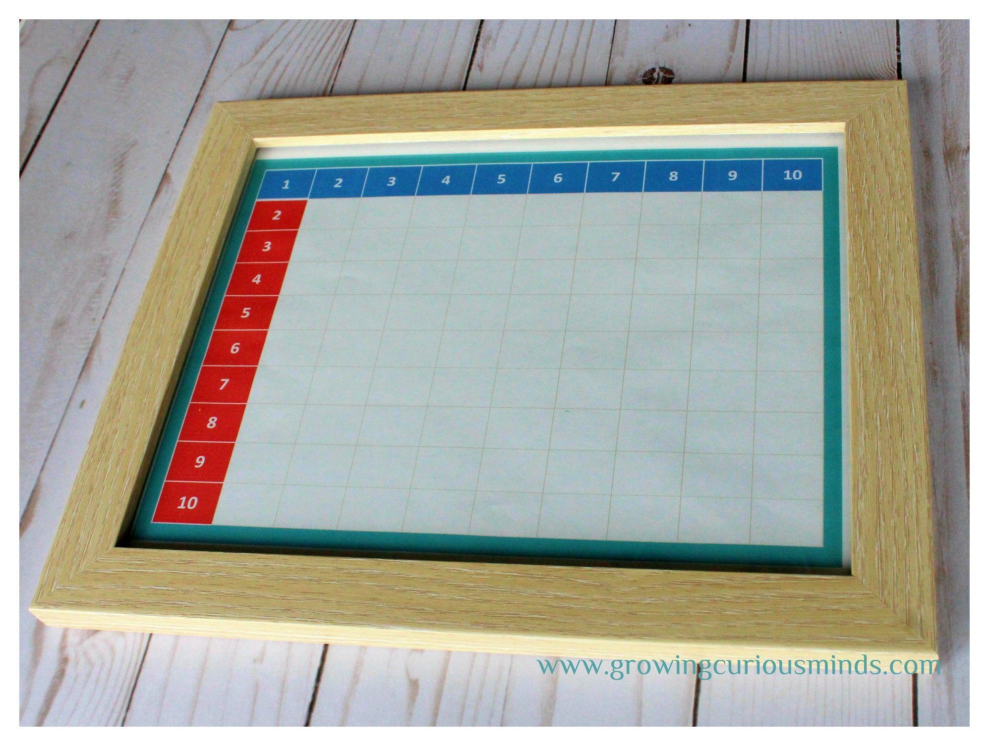 Diy Montessori Pythagoras Board Learn Multiplication