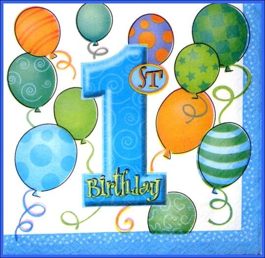 Cake Blue Birthday Themes First Balloons 1st Boy Party