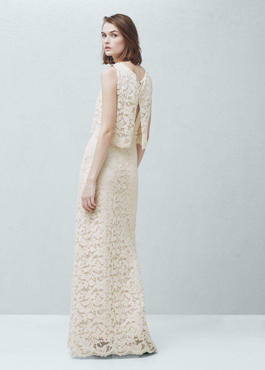 0d0f4b9bf Vestido guipur - Mujer