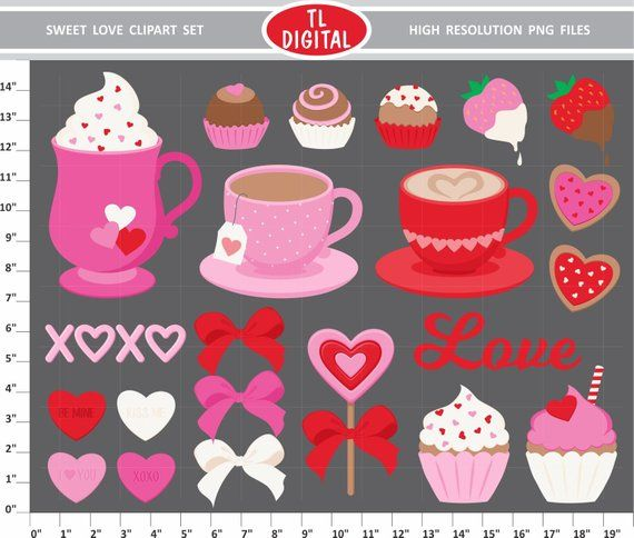 Download Sweet Love Clipart Set - Valentines Day Clipart - Love ...