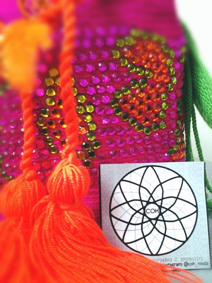 mini mochila decorada en vidrio