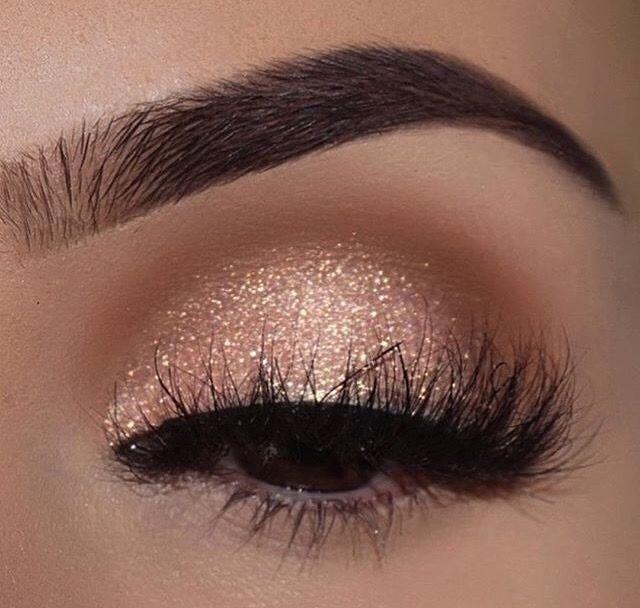 Photo of Champagner-Schimmer-Make-up für braune Augen ✨✨✨ #EyeMakeupDark – Spitze