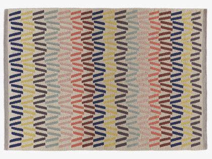 Fyfe Multi Coloured Wool Medium Multi Coloured Rug 140 X 200cm Habitatuk Colorful Rugs Rugs Rugs On Carpet