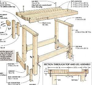 Pdf Plans Plans Diy Workbench Download Free Plywood