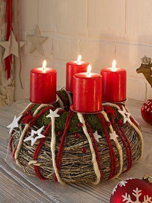 Weihnachtsdeko Bei Heine.Heine Adventskranz Diy Others Advent Adventskränze Und
