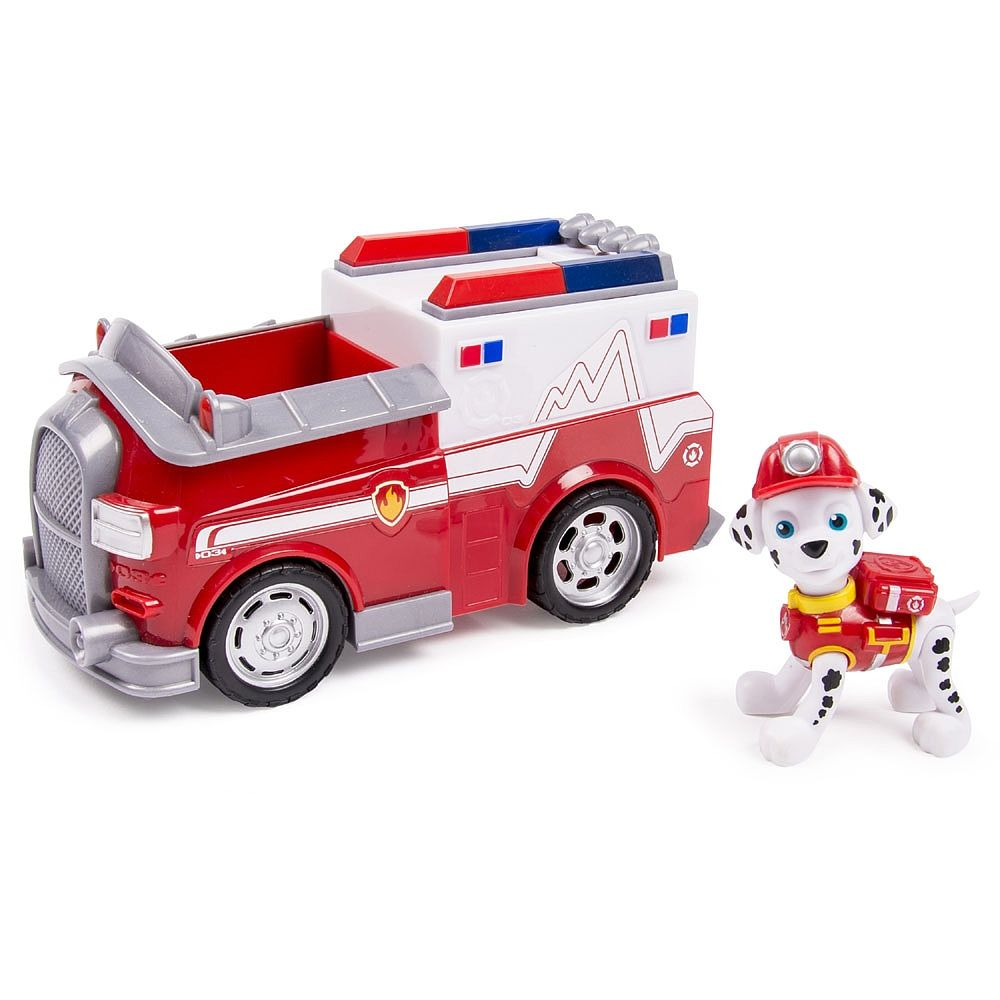 Paw Patrol - Marshall\'s Firetruck, Vehicle and Figure - Spin Master ...