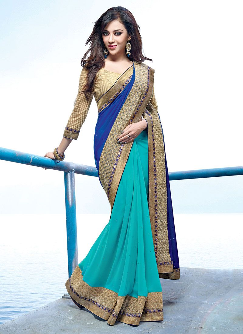 e33911ae243f7 Latest Indian Party Wear Fancy Sarees Designs Collection 2018-2019 ...