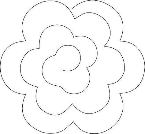 Taller de fieltro desde cero c mo hacer patrones de for Rolled paper roses template