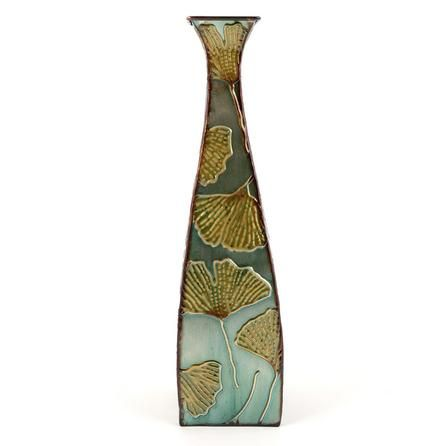 Global Fusion Collection Tall Metal Ginko Vase Dunelm Mill