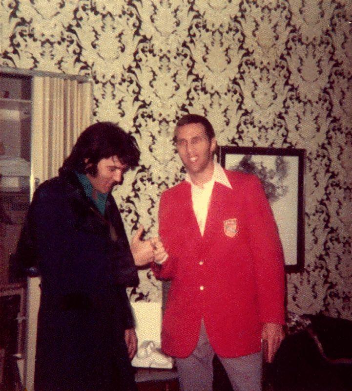 1973 1 29-31 With Memphis boxer Joey Hadley, Las Vegas Hilton,