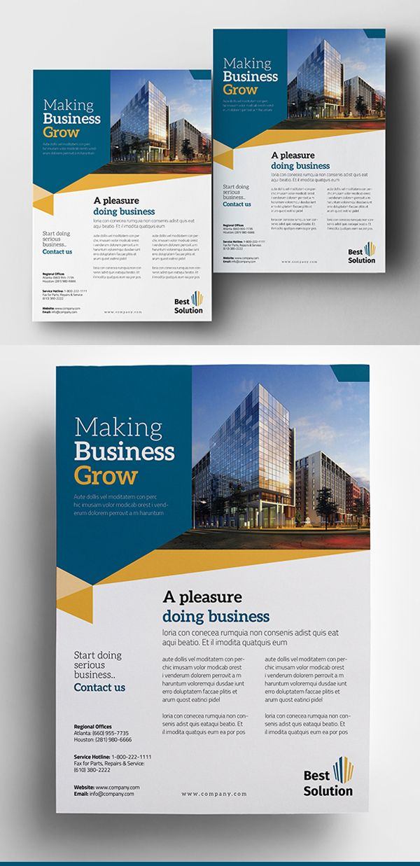 Simple Business Flyer Template Brochure Flyer Designs - Simple brochure templates