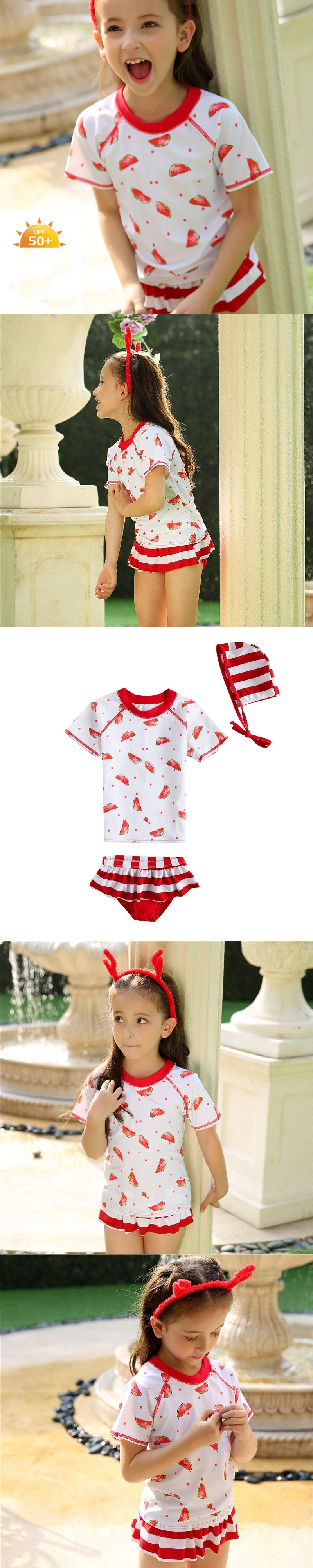 2017 Summer Baby Girls Swimsuits Cute Kids Bathing Suits Watermelon