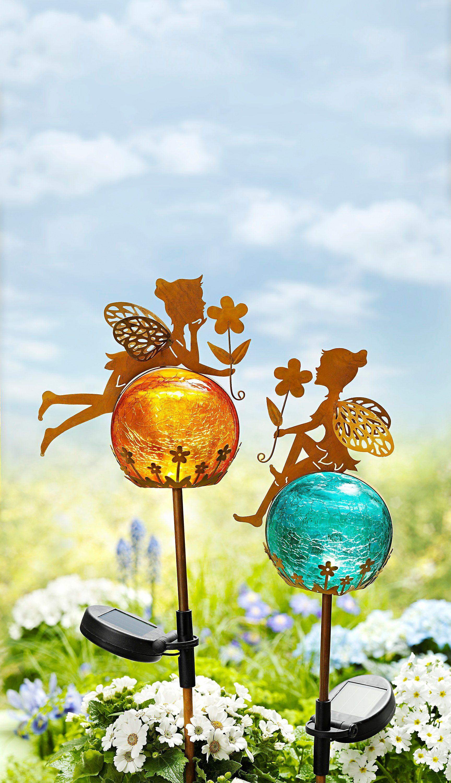 Solar Gartenstecker Fairytale Gartenstecker Kugelleuchten Garten