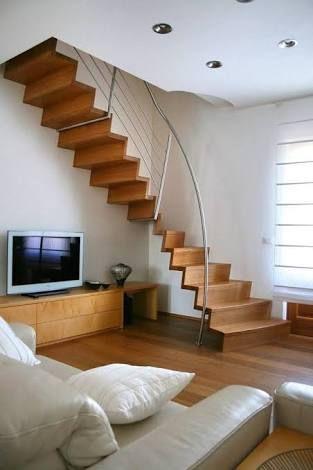 Resultado de imagen para escaleras para espacios peque os for Diseno de escaleras para espacios pequenos