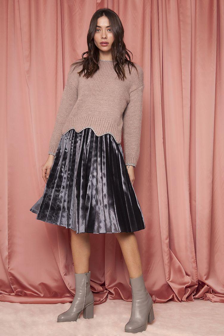 3e2d19db8b0 Velvet Plisse Midi Φούστα | ΦΟΥΣΤΕΣ ~ SKIRTS | Pinterest