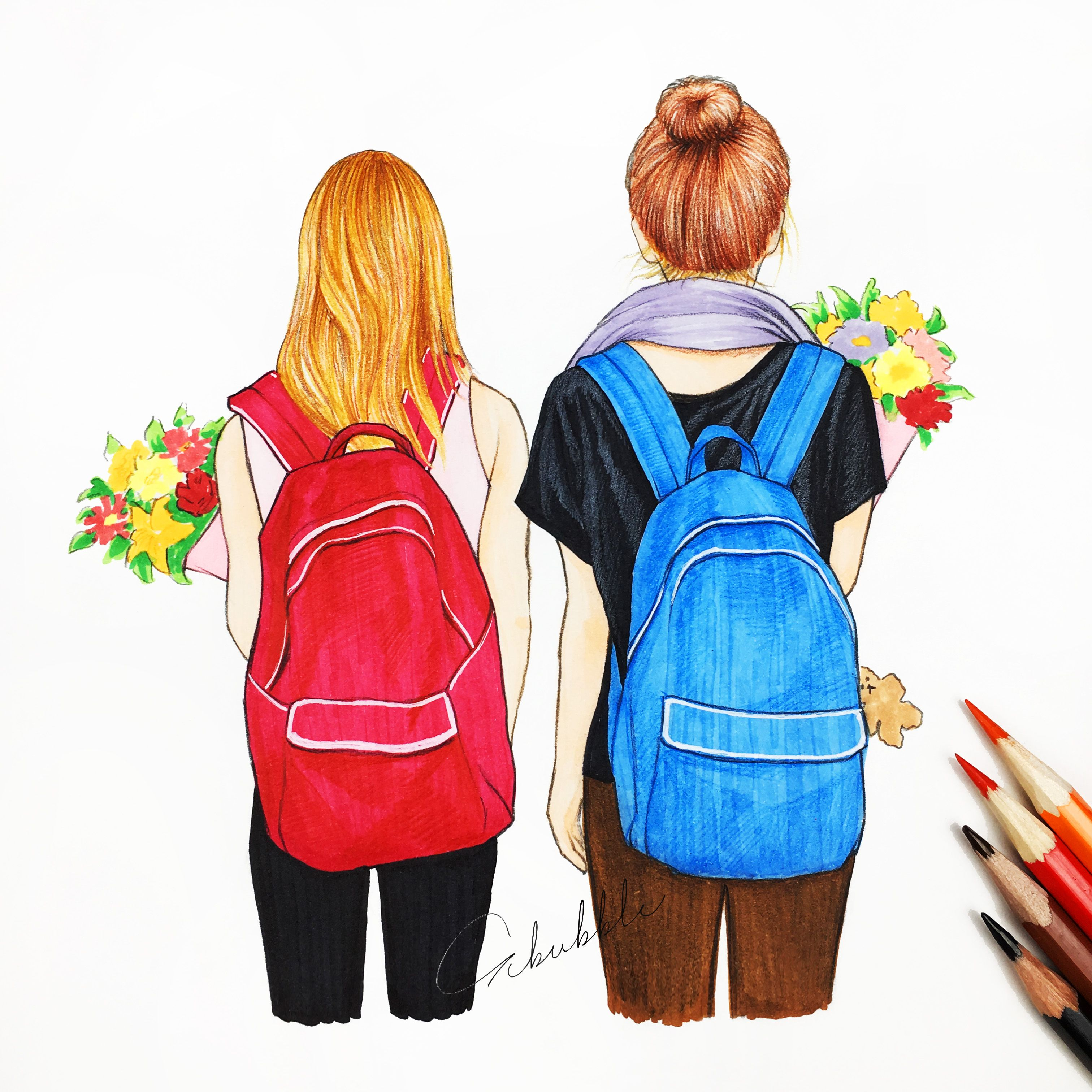 I like going to school with my bestie best friends for Drawing websites
