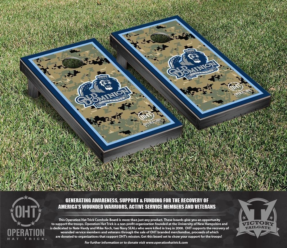 Old Dominion Monarchs Operation Hat Trick Military Cornhole Set