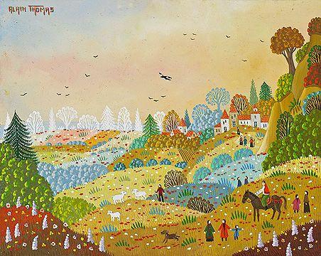 Biographie du peintre alain thomas colorful art naive for Alain thomas