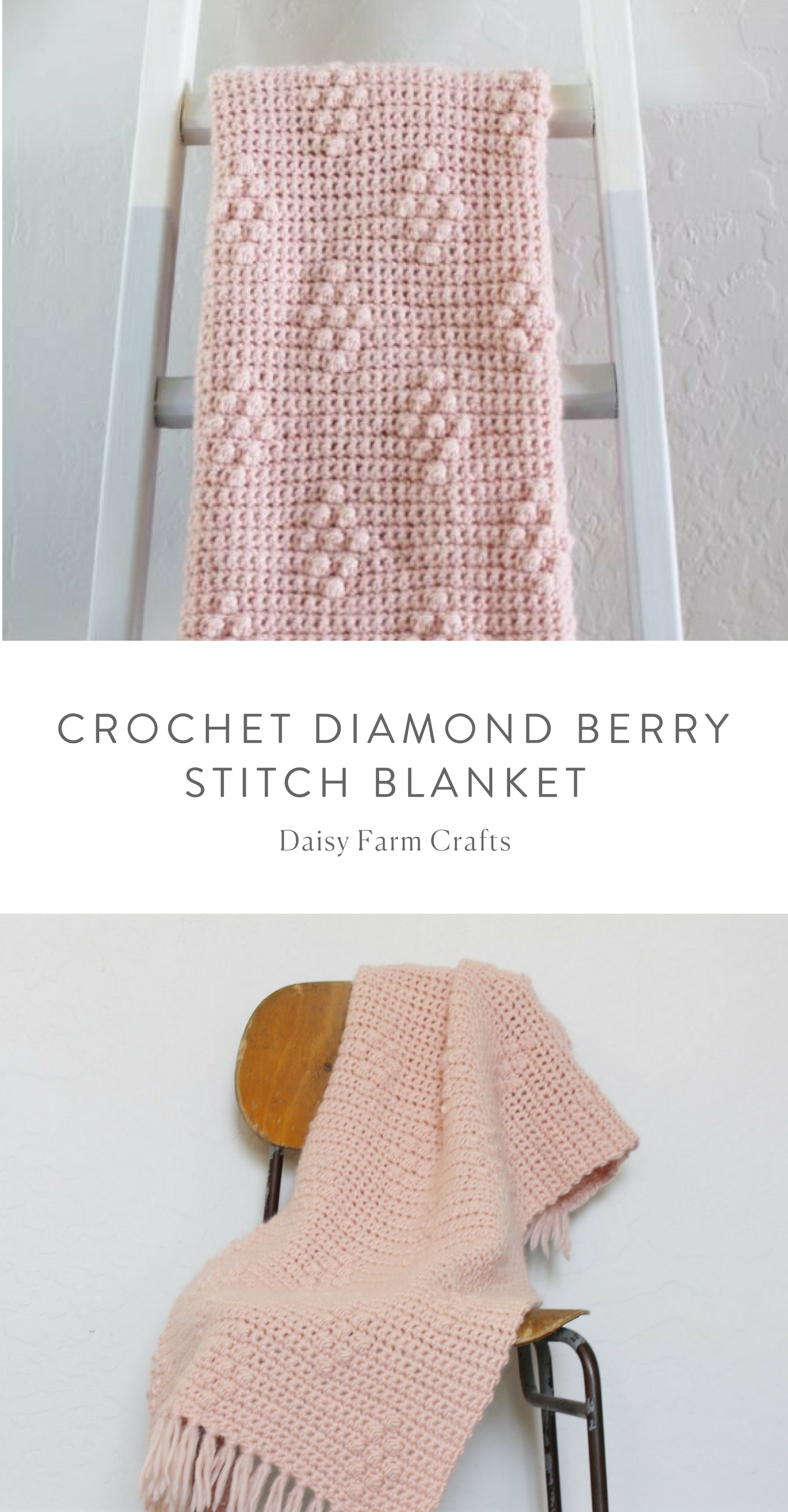 Free Pattern - Crochet Diamond Berry Stitch Blanket | Crochet ...
