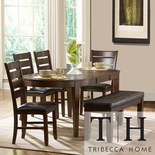 Tribecca Home Camden 6 Piece Oval Shape Dining Set