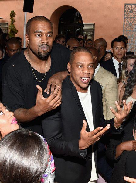 Kanye West Photos Photos Roc Nation And Three Six Zero Pre Grammy Brunch 2015 Inside Jay Z Kanye West Beyonce And Jay Z Jay Z
