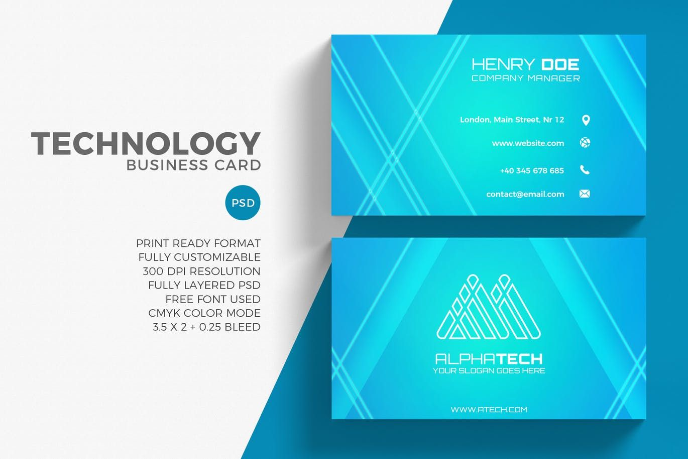 Technology business card template psd business card templates technology business card template psd accmission Images
