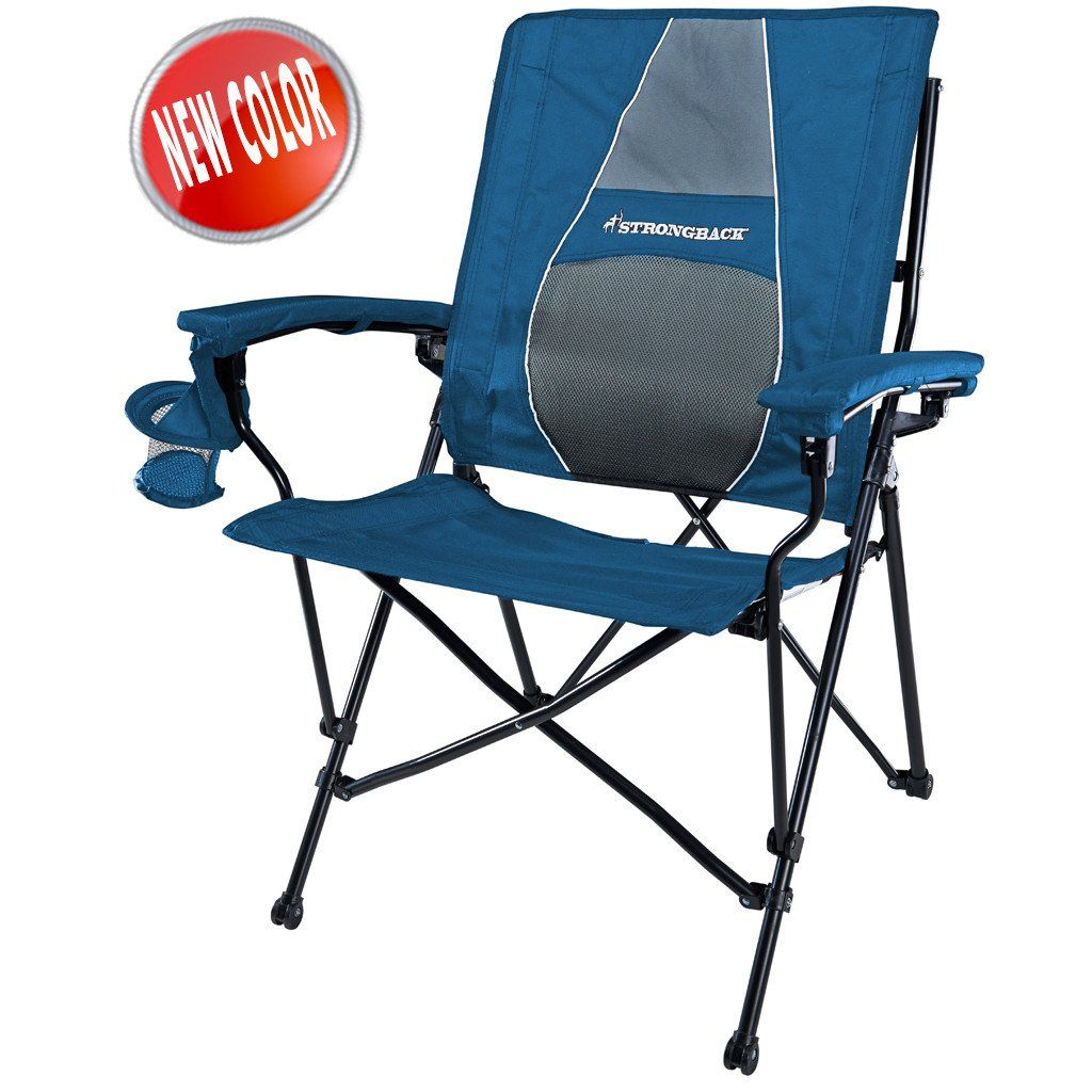 STRONGBACK Elite Navy & Grey Camping chairs, Folding