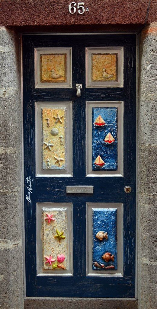 Artwork on doors in the old part of town Funchal Madeira & Funchal door | Funchal Doors and Architecture