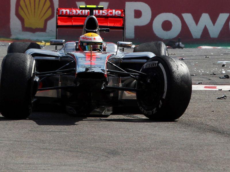 2012 SpaFrancorchamps Hamilton's broken McLaren