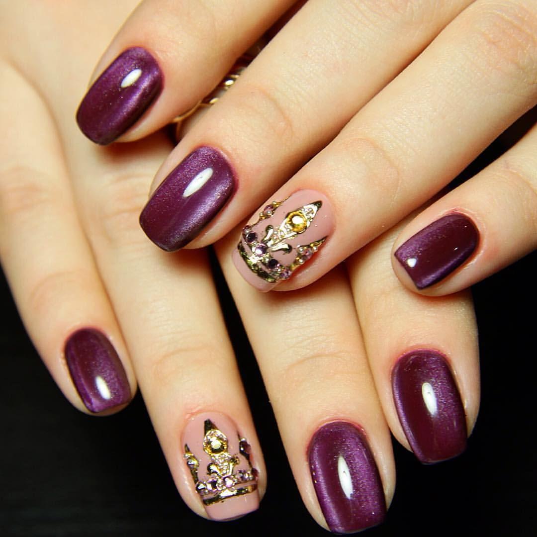 Ideas of winter nails, New year nails ideas 1, Short nails 1