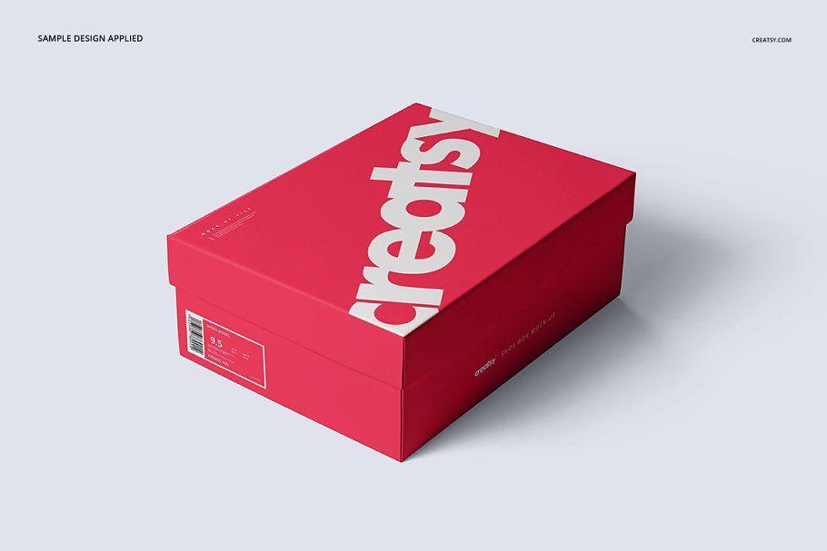 Shoe Box Mockup Set Box Mockup Box Design Templates Shoe Box Design